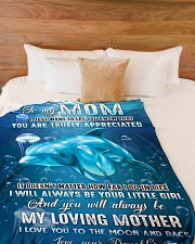 """To my mom - I will always be your little girl Large Fleece Blanket - 60"""" x 80"""" aos-coral-fleece-blanket-60x80-lifestyle-front-02"""