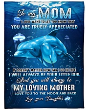 """To my mom - I will always be your little girl Large Fleece Blanket - 60"""" x 80"""" front"""