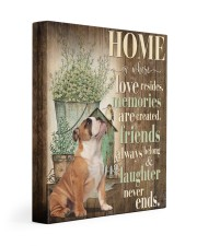 English bulldog - Home 11x14 Gallery Wrapped Canvas Prints front