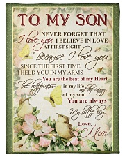 """To my son - You are always my little boy Small Fleece Blanket - 30"""" x 40"""" front"""