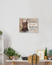 Doberman - I'll be there in your heart 14x11 Gallery Wrapped Canvas Prints aos-canvas-pgw-14x11-lifestyle-front-03