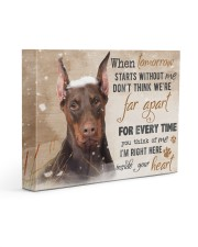 Doberman - I'll be there in your heart 14x11 Gallery Wrapped Canvas Prints front