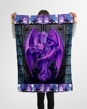 "I freaking love dragons Small Fleece Blanket - 30"" x 40"" aos-coral-fleece-blanket-30x40-lifestyle-front-14"