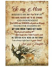 To my mom - I'm always right here in your heart 11x17 Poster front