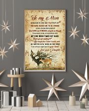 To my mom - I'm always right here in your heart 11x17 Poster lifestyle-holiday-poster-1