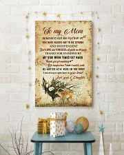 To my mom - I'm always right here in your heart 11x17 Poster lifestyle-holiday-poster-3