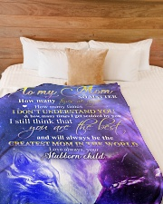 """To my mom - You are the best Large Fleece Blanket - 60"""" x 80"""" aos-coral-fleece-blanket-60x80-lifestyle-front-02"""