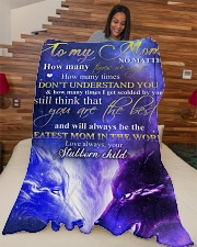 """To my mom - You are the best Large Fleece Blanket - 60"""" x 80"""" aos-coral-fleece-blanket-60x80-lifestyle-front-04"""