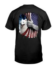 Samoyed American Flag Classic T-Shirt back