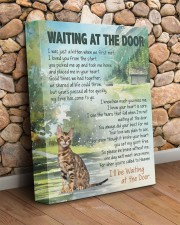 Bengal cat - Waiting at the door 11x14 Gallery Wrapped Canvas Prints aos-canvas-pgw-11x14-lifestyle-front-18