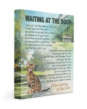 Bengal cat - Waiting at the door 11x14 Gallery Wrapped Canvas Prints front