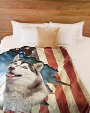 """Beautiful Husky Large Fleece Blanket - 60"""" x 80"""" aos-coral-fleece-blanket-60x80-lifestyle-front-02"""