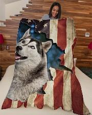 """Beautiful Husky Large Fleece Blanket - 60"""" x 80"""" aos-coral-fleece-blanket-60x80-lifestyle-front-04"""