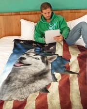 """Beautiful Husky Large Fleece Blanket - 60"""" x 80"""" aos-coral-fleece-blanket-60x80-lifestyle-front-06"""