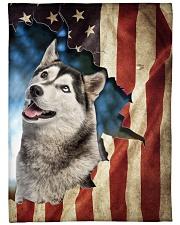 """Beautiful Husky Large Fleece Blanket - 60"""" x 80"""" front"""