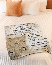 """Nana to my granddaughter - I love you so much Small Fleece Blanket - 30"""" x 40"""" aos-coral-fleece-blanket-30x40-lifestyle-front-01"""