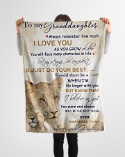 """Nana to my granddaughter - I love you so much Small Fleece Blanket - 30"""" x 40"""" aos-coral-fleece-blanket-30x40-lifestyle-front-14"""