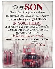 """To my son - Never feel that you are alone Large Fleece Blanket - 60"""" x 80"""" front"""