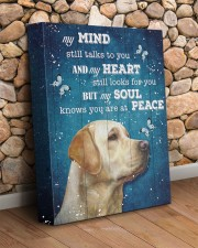 Labrador - My mind still talks to you 11x14 Gallery Wrapped Canvas Prints aos-canvas-pgw-11x14-lifestyle-front-18