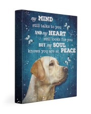 Labrador - My mind still talks to you 11x14 Gallery Wrapped Canvas Prints front