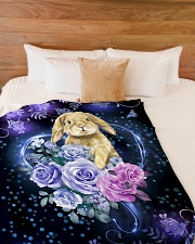 "I love rabbits Large Fleece Blanket - 60"" x 80"" aos-coral-fleece-blanket-60x80-lifestyle-front-02"