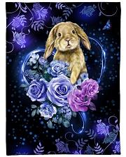 "I love rabbits Large Fleece Blanket - 60"" x 80"" front"