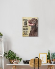 Chocolate Labrador-canvas-I'll be there 11x14 Gallery Wrapped Canvas Prints aos-canvas-pgw-11x14-lifestyle-front-03