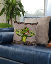 Cute frog Square Pillowcase aos-pillow-square-front-lifestyle-02
