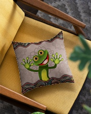 Cute frog Square Pillowcase aos-pillow-square-front-lifestyle-07