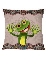 Cute frog Square Pillowcase back
