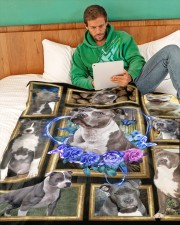 """Pit Bull - I love my Pit Bull Large Fleece Blanket - 60"""" x 80"""" aos-coral-fleece-blanket-60x80-lifestyle-front-06"""