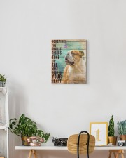 English Bulldog - In your heart 11x14 Gallery Wrapped Canvas Prints aos-canvas-pgw-11x14-lifestyle-front-03