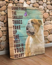 English Bulldog - In your heart 11x14 Gallery Wrapped Canvas Prints aos-canvas-pgw-11x14-lifestyle-front-18