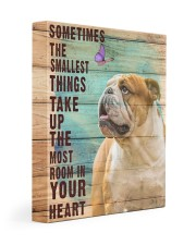 English Bulldog - In your heart 11x14 Gallery Wrapped Canvas Prints front