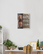 Brown Dachshund - Before I met you 11x14 Gallery Wrapped Canvas Prints aos-canvas-pgw-11x14-lifestyle-front-03