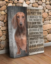 Brown Dachshund - Before I met you 11x14 Gallery Wrapped Canvas Prints aos-canvas-pgw-11x14-lifestyle-front-18
