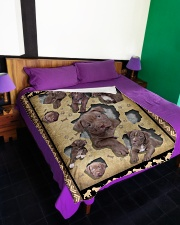 """Pit Bull - I love my Pit Bull Large Fleece Blanket - 60"""" x 80"""" aos-coral-fleece-blanket-60x80-lifestyle-front-01"""