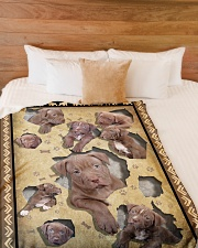 """Pit Bull - I love my Pit Bull Large Fleece Blanket - 60"""" x 80"""" aos-coral-fleece-blanket-60x80-lifestyle-front-02"""