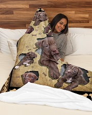 """Pit Bull - I love my Pit Bull Large Fleece Blanket - 60"""" x 80"""" aos-coral-fleece-blanket-60x80-lifestyle-front-03"""