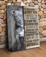 Pit Bull - Before I met you 11x14 Gallery Wrapped Canvas Prints aos-canvas-pgw-11x14-lifestyle-front-18