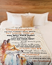 """Nana to my granddaughter - I'll be with you always Large Fleece Blanket - 60"""" x 80"""" aos-coral-fleece-blanket-60x80-lifestyle-front-02"""