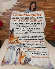 """Nana to my granddaughter - I'll be with you always Large Fleece Blanket - 60"""" x 80"""" aos-coral-fleece-blanket-60x80-lifestyle-front-04"""