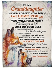 """Nana to my granddaughter - I'll be with you always Large Fleece Blanket - 60"""" x 80"""" front"""
