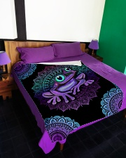 "I love frogs Large Fleece Blanket - 60"" x 80"" aos-coral-fleece-blanket-60x80-lifestyle-front-01"