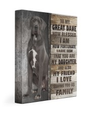 Great Dane - You are my daughter 11x14 Gallery Wrapped Canvas Prints front