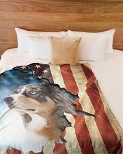 "Beautiful Aussie  Large Fleece Blanket - 60"" x 80"" aos-coral-fleece-blanket-60x80-lifestyle-front-02"