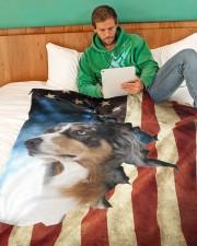 "Beautiful Aussie  Large Fleece Blanket - 60"" x 80"" aos-coral-fleece-blanket-60x80-lifestyle-front-06"