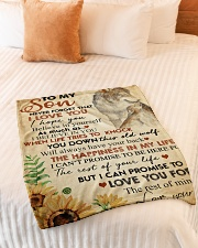 """To my son - Never forget that I love you Small Fleece Blanket - 30"""" x 40"""" aos-coral-fleece-blanket-30x40-lifestyle-front-01"""