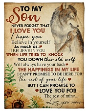 """To my son - Never forget that I love you Small Fleece Blanket - 30"""" x 40"""" front"""