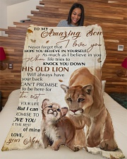 """To my amazing son - Never forget that I love you Large Fleece Blanket - 60"""" x 80"""" aos-coral-fleece-blanket-60x80-lifestyle-front-04"""